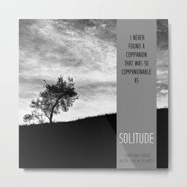 Henry David Thoreau - Solitude Metal Print