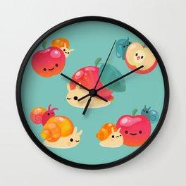 Apple snail Wall Clock