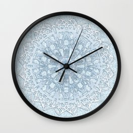 Frozen Aqua Mandala Wall Clock
