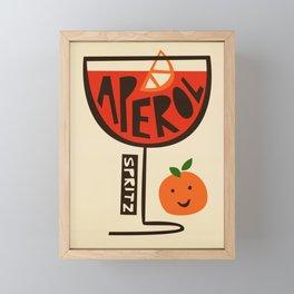 Aperol Spritz Cocktail Print Framed Mini Art Print