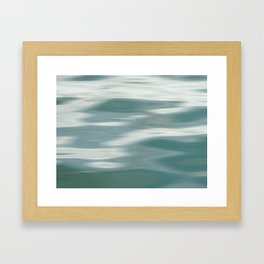 Abstract wave and light Framed Art Print