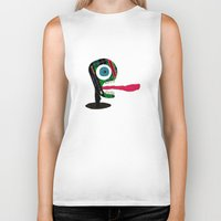 tape Biker Tanks featuring Screaming Tape Head by Take F1ve