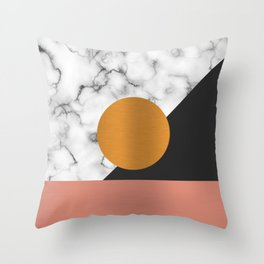 Marble & metals Throw Pillow