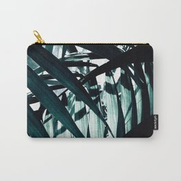 Inside of Palm Trees Carry-All Pouch