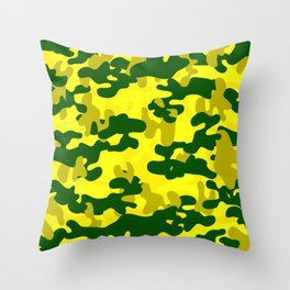 Camouflage (Yellow) Throw Pillow