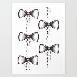 Bow Pattern Art Print