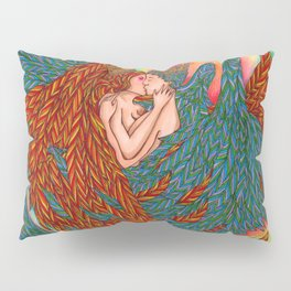 Rainbow Prince And Princess Angels Pillow Sham