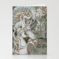 the last unicorn Stationery Cards featuring The Last Unicorn by Bonnie Johnson