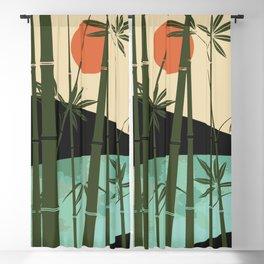 Bamboo curtain Blackout Curtain