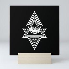 The All Seeing Eye Roll - White Night Mini Art Print