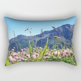Blossoms in the Italian Alps Rectangular Pillow