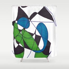 Fetal Position Shower Curtain