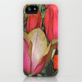 Graphic Tulips  iPhone Case