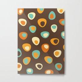 Abstract Organic Retro Design #0009 Metal Print