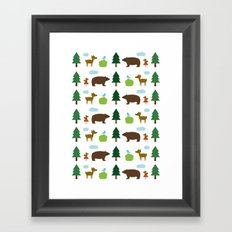 The Essential Patterns of Childhood - Forest Framed Art Print