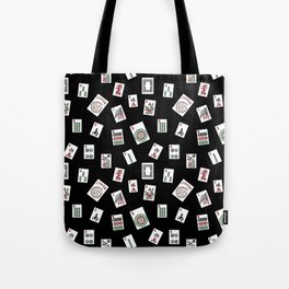 Black Mahjong Tote Bag