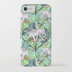 Little Elephant on a Jungle Adventure - faded vintage version Slim Case iPhone 7