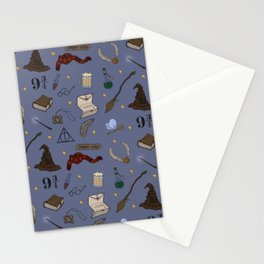 Wizard School Pattern Stationery Cards