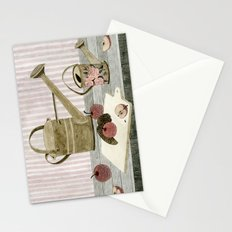 Watering Cans and Apples Stationery Cards