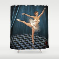 ballerina Shower Curtains featuring ballerina by Ancello