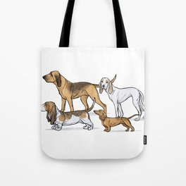 Nosy Scenthounds Tote Bag