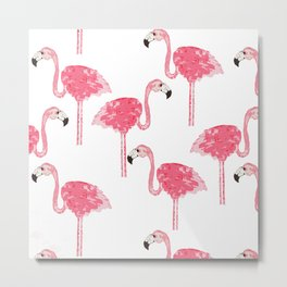 Flamingo Pattern Metal Print