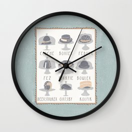 EAT MY HAT Wall Clock