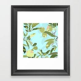 apple tree zoom in Framed Art Print