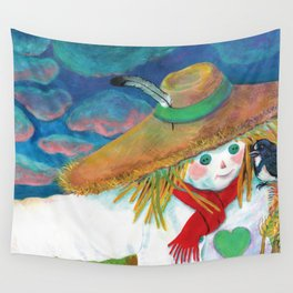 Not scary scarecrow Illustration Wall Tapestry