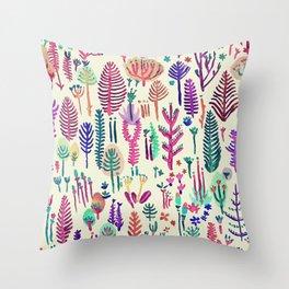 tropical cute nature Throw Pillow