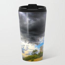 Storm Over The Castle Travel Mug