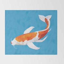 Geo Koi Orange & White Throw Blanket