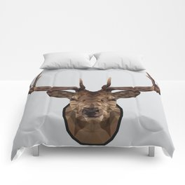 Low Poly Wild Stag Comforters