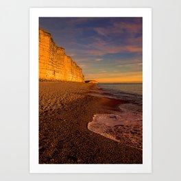 East Cliff Sunset Dorset 2 Art Print