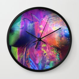""" The Color of Life""  By Nacho Dung. Wall Clock"
