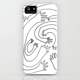 Minimalist Hand Maze iPhone Case
