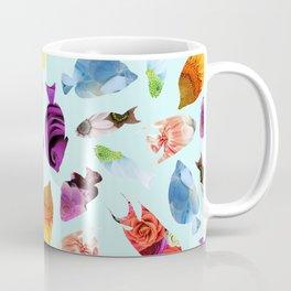Fish shaped Flowers Coffee Mug
