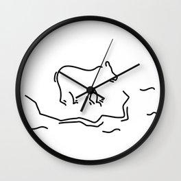 polar bear floe antartkis polar bear Wall Clock