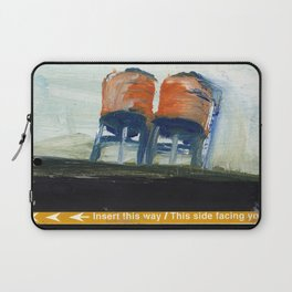 NYC Water Towers Painted on subway fare card Laptop Sleeve
