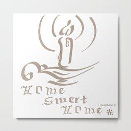 Homme Sweet Home soft brown Metal Print