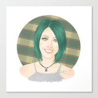 jenna kutcher Canvas Prints featuring Jenna McDougall by attkcherry