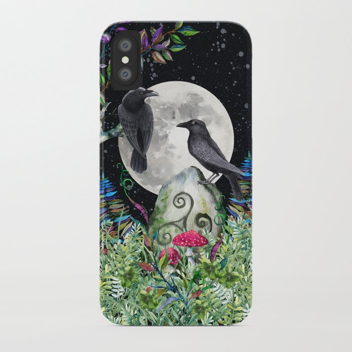 Raven Moon Magick iPhone Case
