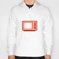 tv Hoodies featuring television by brittcorry