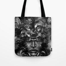 Empress Wolf Tote Bag