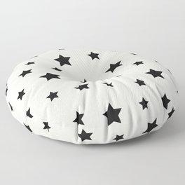 Star Pattern - Black & White Floor Pillow