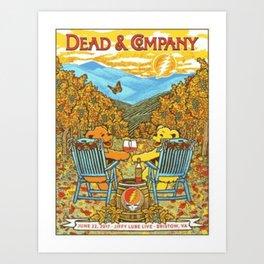 Dead and company Art Print