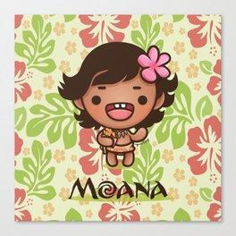 Kawaii Baby Moana Canvas Print