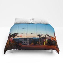 Venice Beach California Sunrise Comforters