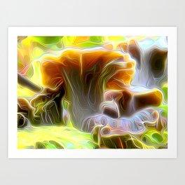 Pop Cornucopioides Art Print