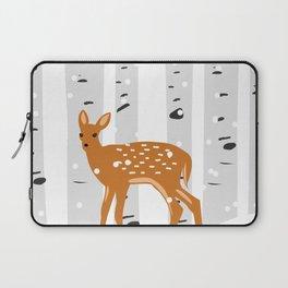 Baby Deer in the snow Laptop Sleeve